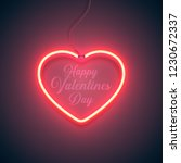 bright heart. neon sign. retro... | Shutterstock .eps vector #1230672337