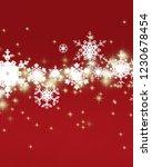 2d illustration. snowflakes on... | Shutterstock . vector #1230678454