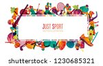 colorful sport background.... | Shutterstock .eps vector #1230685321
