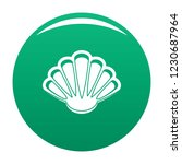 nice shell icon. simple... | Shutterstock .eps vector #1230687964