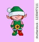 cartoon illustration of a santa ... | Shutterstock .eps vector #1230697111