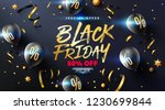 black friday sale poster with... | Shutterstock .eps vector #1230699844