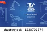 industrial automated... | Shutterstock .eps vector #1230701374