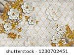 3d wallpaper design with...   Shutterstock . vector #1230702451