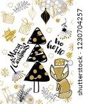 merry christmas creative... | Shutterstock .eps vector #1230704257