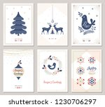 winter holidays greeting cards. ... | Shutterstock .eps vector #1230706297