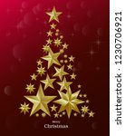 christmas and new years red... | Shutterstock .eps vector #1230706921