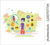 social media background with... | Shutterstock .eps vector #1230707734