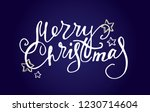 winter holidays   hand drawn... | Shutterstock .eps vector #1230714604