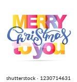winter holidays   hand drawn... | Shutterstock .eps vector #1230714631