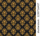 seamless decorative vector... | Shutterstock .eps vector #1230716437