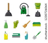 isolated object of cleaning and ... | Shutterstock . vector #1230726064
