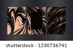 set of vector rose gold... | Shutterstock .eps vector #1230736741