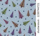 trendy scandinavian seamless... | Shutterstock .eps vector #1230744721