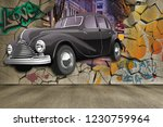 3d wallpaper design with a... | Shutterstock . vector #1230759964