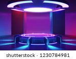 circle stage with and and... | Shutterstock . vector #1230784981