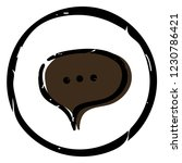 chat icon vector illustration... | Shutterstock .eps vector #1230786421