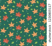autumn seamless pattern  red... | Shutterstock .eps vector #1230805117