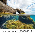 Natural Rock Formation With...