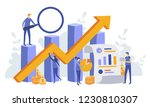 finance and engineering graph... | Shutterstock .eps vector #1230810307