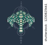 sacred geometry design with the ... | Shutterstock .eps vector #1230825661