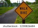 walk bike sigh on the road...   Shutterstock . vector #1230826684