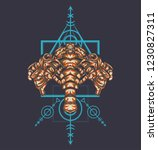sacred geometry design with the ... | Shutterstock .eps vector #1230827311