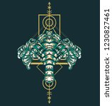 sacred geometry design with the ... | Shutterstock .eps vector #1230827461