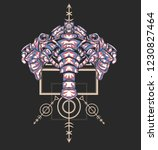 sacred geometry design with the ... | Shutterstock .eps vector #1230827464