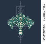 sacred geometry design with the ... | Shutterstock .eps vector #1230827467