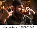 driving and alcohol. sad man... | Shutterstock . vector #1230831547