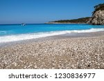 the colorful coast of the... | Shutterstock . vector #1230836977