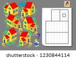 logic puzzle game for children... | Shutterstock .eps vector #1230844114