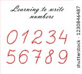 learning to write numbers... | Shutterstock .eps vector #1230846487