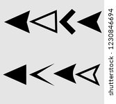 arrow icons or vector pointers... | Shutterstock .eps vector #1230846694