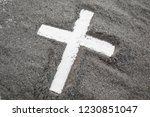 cross made of ashes  ash... | Shutterstock . vector #1230851047