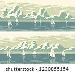 set of horizontal simple...   Shutterstock .eps vector #1230855154