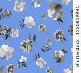 floral seamless pattern with... | Shutterstock . vector #1230859981