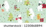seamless pattern with polar... | Shutterstock .eps vector #1230868894