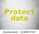 privacy concept  yellow protect ... | Shutterstock . vector #1230872767