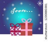 winter christmas vector... | Shutterstock .eps vector #1230880381