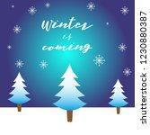 winter christmas vector... | Shutterstock .eps vector #1230880387