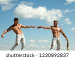 testing their strength.... | Shutterstock . vector #1230892837