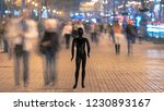 the mannequin stands on the...   Shutterstock . vector #1230893167