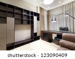 interior of designer office | Shutterstock . vector #123090409