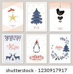 merry christmas and happy new... | Shutterstock .eps vector #1230917917