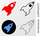 rocket eps vector pictograph... | Shutterstock .eps vector #1230918157