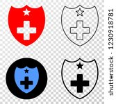 medical shield eps vector... | Shutterstock .eps vector #1230918781