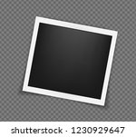 square realistic frame template ... | Shutterstock .eps vector #1230929647