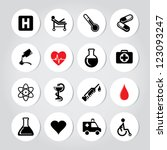 vector illustration of medic... | Shutterstock .eps vector #123093247